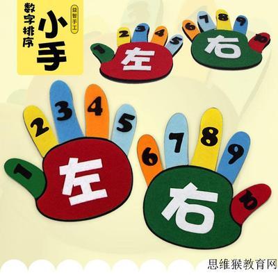 幼儿园游戏活动手工制作玩教具 幼儿园数学左右手一物