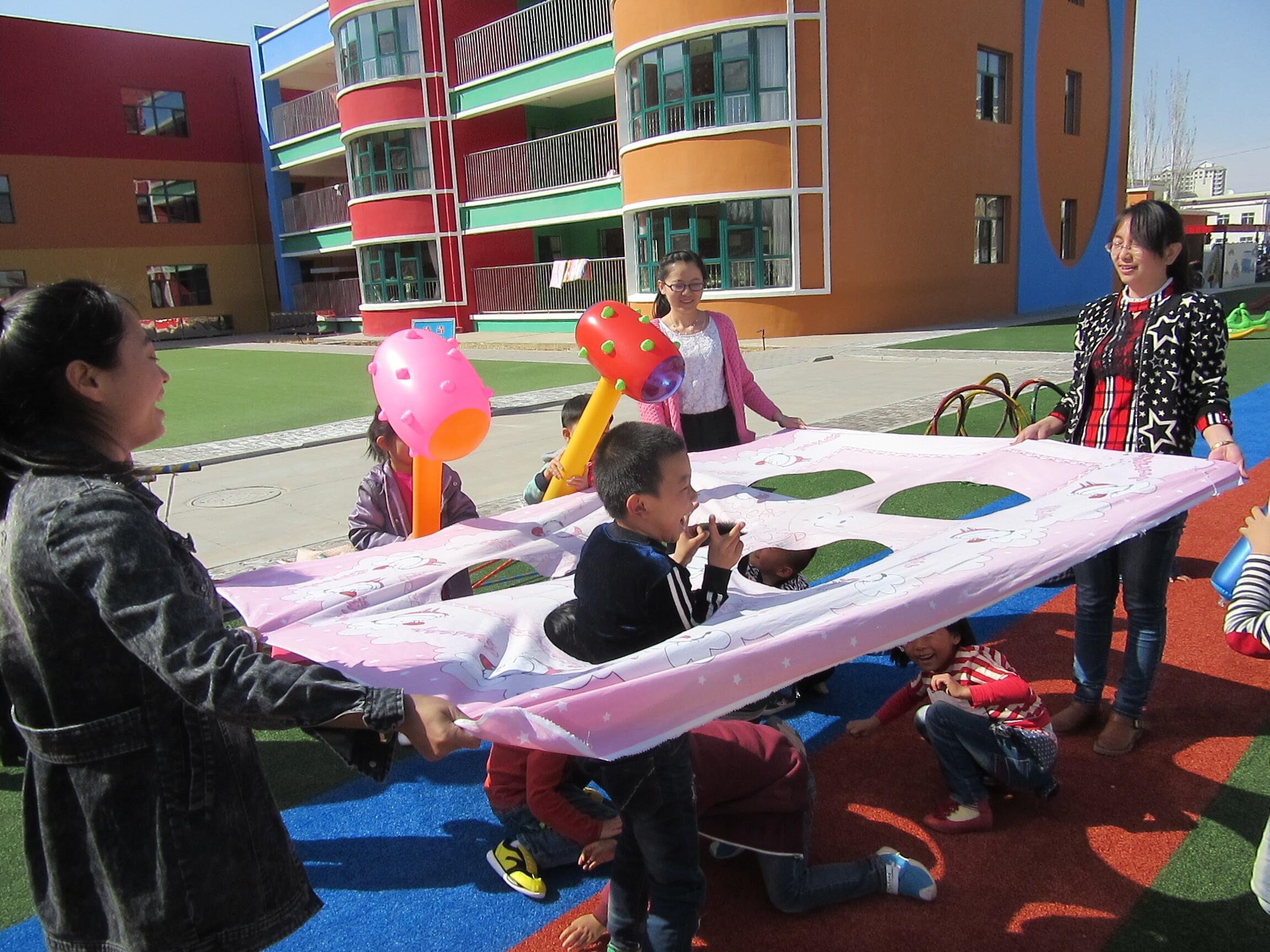 幼儿园自制玩教具,幼儿园打地鼠,体育游戏器材