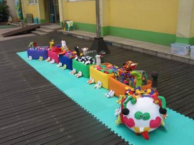 幼儿园大型户外游戏活动玩教具 幼儿园自制玩教具制作