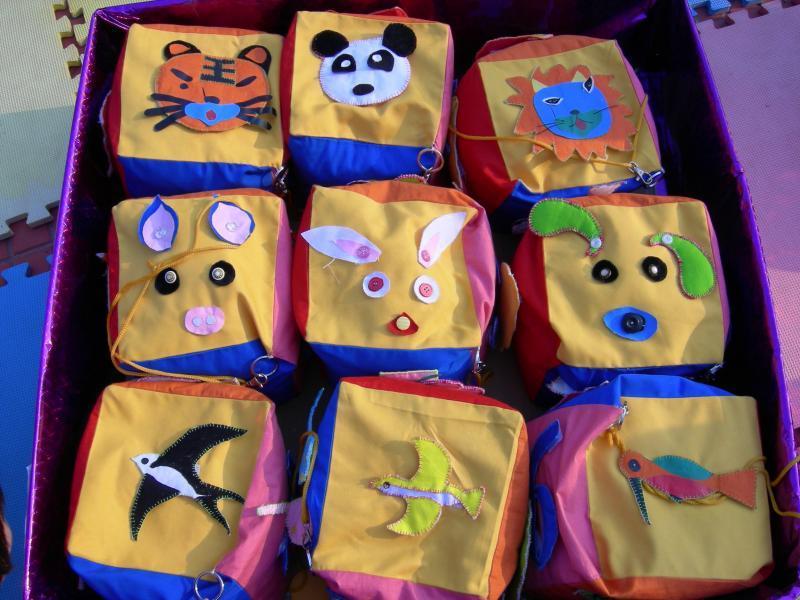 幼儿园自主玩教具:体育沙包游戏活动