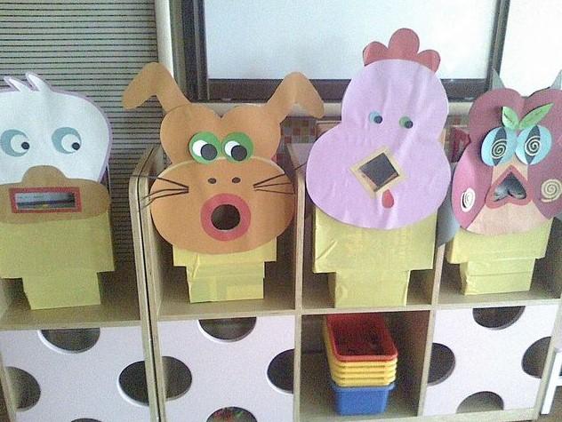 幼儿园手工制作自制玩教具纸杯纸筒手工