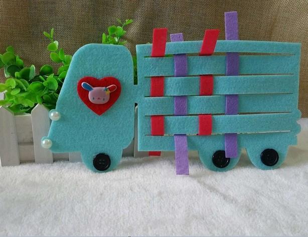 幼儿园区角区域游戏活动投放材料 幼儿园编织汽车