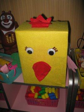 幼儿园亲子手工制作 幼儿园创意手工小鸡.jpg