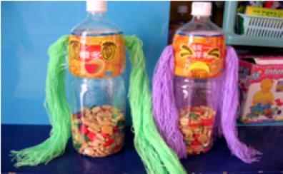 幼儿园自制玩教具废旧材料制作 幼儿园编辫子玩教具