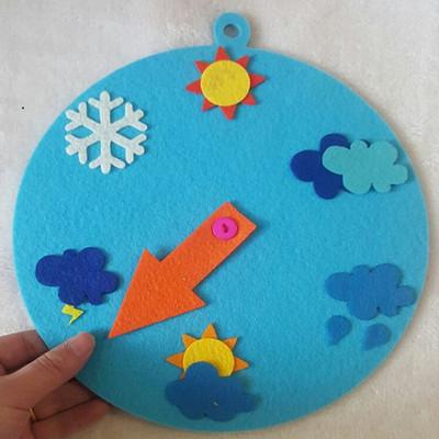 幼儿园区域活动游戏玩教具 幼儿园科学活动天气预报玩教具