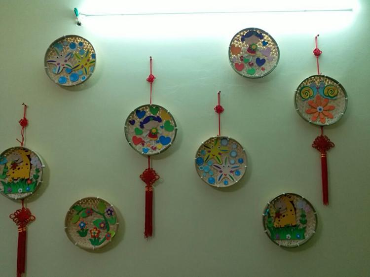 幼儿园美工区活动笸箩创意diy环境布置装饰