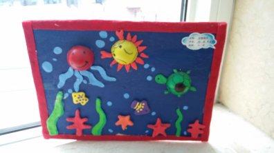 幼儿园手工制作 手工作品 海底世界