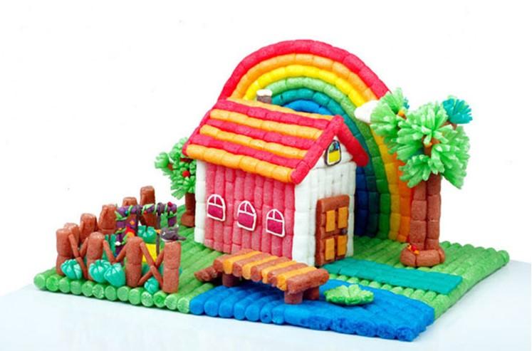 幼儿园diy手工制作想象力创造力玉米粒游戏活动