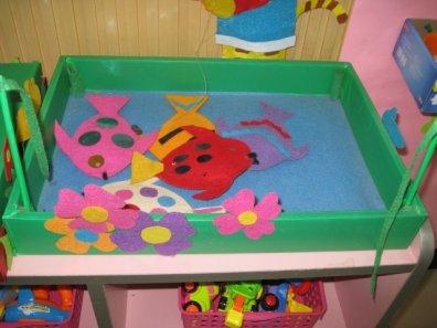 幼儿园手工制作小猫钓鱼玩教具