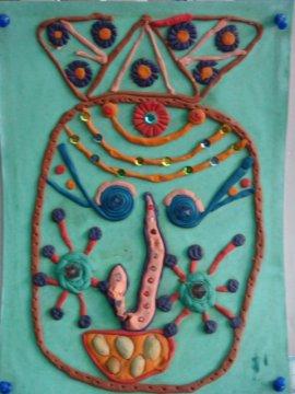 橡皮泥创意手工美工作品展示 幼儿园美劳作品展示