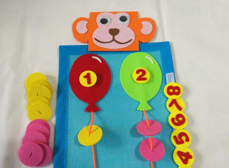 数学区域角_幼儿园区角区域活动数学气球穿线动手操作玩教具 思维训练玩教具